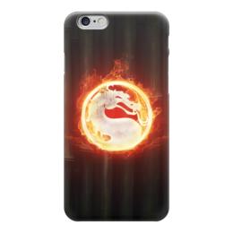 """Чехол для iPhone 6 """"Mortal Kombat"""" - огонь, mortal kombat, fire, мортал комбат, мк"""