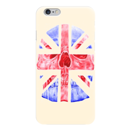 "Чехол для iPhone 6 глянцевый ""Skull Art"" - skull, англия, британский флаг, череп, british flag"