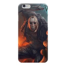 "Чехол для iPhone 6 глянцевый ""Джейсон"" - джейсон, ужасы, пятница 13, фильмы"