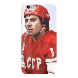 "Чехол для iPhone 6 ""Валерий Харламов"" - красная машина, валерий харламов, сборная ссср по хоккею"