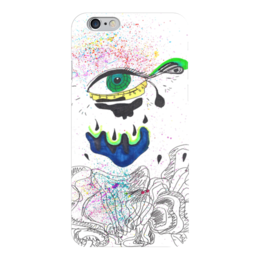 "Чехол для iPhone 6 ""Green eye "" - арт, глаза, графика, абстракция, хипстер"