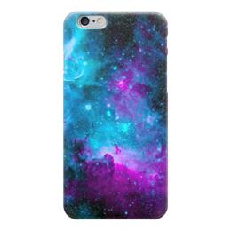 """Чехол для iPhone 6 глянцевый """"Deep Space"""" - space, космос, синий, темный, фиолетовый"""