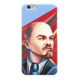 """Чехол для iPhone 6 глянцевый """"Ленин"""" - soviet union, ленин, пролетарии всех стран, ссср, вождь"""