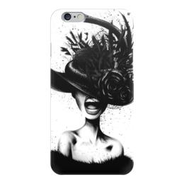 """Чехол для iPhone 6 """"Scream"""" - ретро, губы, шляпа, иллюстрация"""