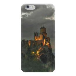 """Чехол для iPhone 6 """"Средневековый замок"""" - ночь, средневековье, огни, замок, арт дизайн"""
