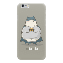 "Чехол для iPhone 6 ""Бэтмен"" - batman, бэтмен, супергерой, fat batman, fatbat"