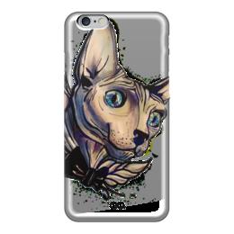 """Чехол для iPhone 6 глянцевый """"Mr. Cox """" - кот, бабочка, кокс, сфинкс, голубые глаза, tm kiseleva, cat"""