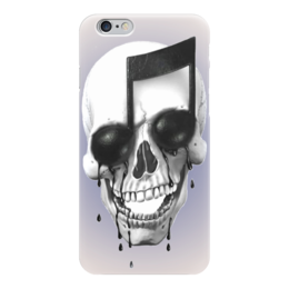 "Чехол для iPhone 6 ""Skull Art"" - skull, череп, нота, note, арт дизайн"