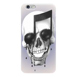"""Чехол для iPhone 6 глянцевый """"Skull Art"""" - skull, note, череп, нота, арт дизайн"""