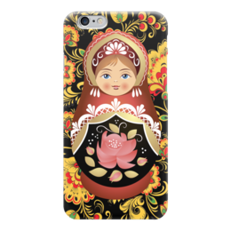 "Чехол для iPhone 6 ""Матрешка и Хохлома"" - матрешка, россия, russia, хохлома"