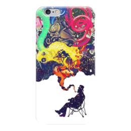"""Чехол для iPhone 6 """"Креатив"""" - человек, рисунки, дым, стул, креативное мышление"""