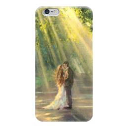 """Чехол для iPhone 6 глянцевый """"Любовь"""" - любовь, пара, лучи, love"""