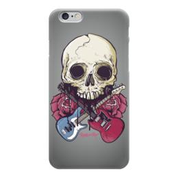"""Чехол для iPhone 6 """"Rock in Rio - фестиваль рок музыки"""" - skull, череп, heavy metal, рок музыка, хеви метал"""
