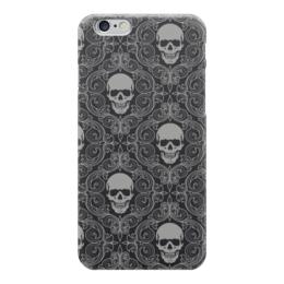 """Чехол для iPhone 6 """"Texture skull"""" - skull, череп, обои"""