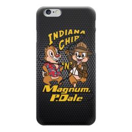 "Чехол для iPhone 6 ""Чип и Дейл (Индиана Джонс)"" - пародия, чип и дейл, chip and dale, indiana jones"
