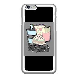 "Чехол для iPhone 6 ""Я люблю поесть"" - еда, картошка, гамбургер, фастфуд"