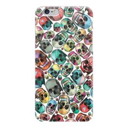 "Чехол для iPhone 6 глянцевый ""Skull Art"" - skull, skulls, череп, черепа, арт дизайн"