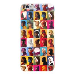 "Чехол для iPhone 6 ""Марвел"" - комиксы, марвел, халк, человек-паук, дэдпул"