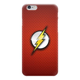 "Чехол для iPhone 6 глянцевый ""The Flash (Молния)"" - logo, комиксы, молния, speed, флеш, hero, вспышка, the flash, dc universe"