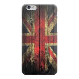 """Чехол для iPhone 6 """"Флаг Великобритании на доске"""" - флаг, uk, union jack, флаг великобритании"""