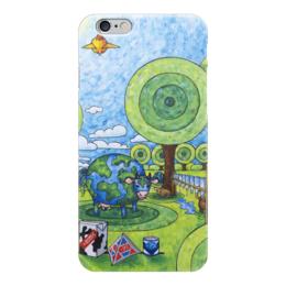"""Чехол для iPhone 6 глянцевый """"Lollypups #24 (WTO) """" - арт, молоко, корова, лолипупсы"""