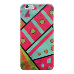 """Чехол для iPhone 6 """"Яркая геометрия"""" - полосы, круги, геометрия, треугольники"""