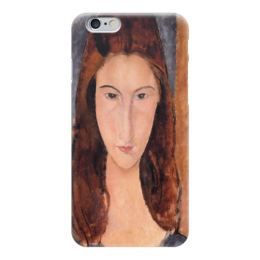 """Чехол для iPhone 6 """"Портрет Жанны Эбютерн"""" - картина, модильяни"""