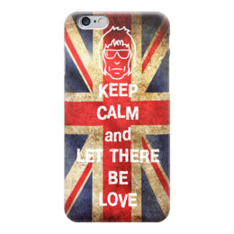 "Чехол для iPhone 6 глянцевый ""Keep calm and let there be love"" - keep calm, oasis, gallagher, union jack"