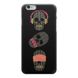 "Чехол для iPhone 6 ""Skull Art"" - skull, череп, черепа, наушники, skulls"