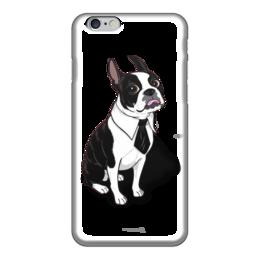"Чехол для iPhone 6 ""Буль-Буль-фон"" - собака, french bulldog, бульдог, французский бульдог"
