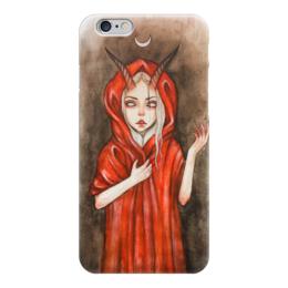 "Чехол для iPhone 6 ""Дьявол"" - девушка, дьявол, сатана, рога, люцефер"