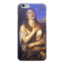 "Чехол для iPhone 6 глянцевый ""Кающаяся Мария Магдалина (Тициан)"" - картина, тициан"
