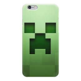 "Чехол для iPhone 6 ""Крипер"" - minecraft, майнкрафт, creeper, крипер"