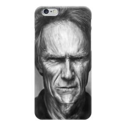 """Чехол для iPhone 6 глянцевый """"Клинт Иствуд / Clint Eastwood"""" - любовь, кино, портрет, клинт иствуд, clint eastwood"""