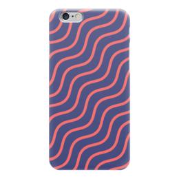 """Чехол для iPhone 6 """"Волнистый"""" - узор, рисунок, полосы, стильный, волны"""