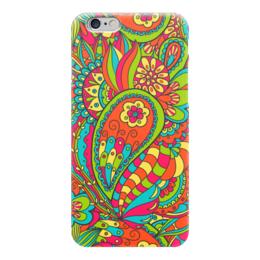 """Чехол для iPhone 6 """"Цветочный дудл"""" - арт, цветы, узор, дудл"""