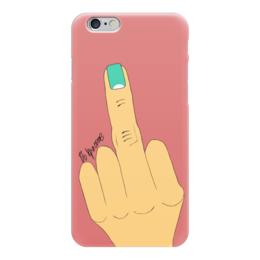 """Чехол для iPhone 6 """"Палец с маникюром"""" - палец, фак, маникюр, жесты, ногти"""