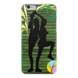 """Чехол для iPhone 6 глянцевый """"Спортивная композиция"""" - девушки, стиль, гимнастика"""