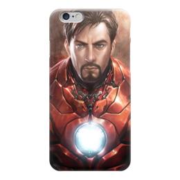 "Чехол для iPhone 6 ""Железный человек"" - комиксы, марвел, iron man, tony stark, тони старк"