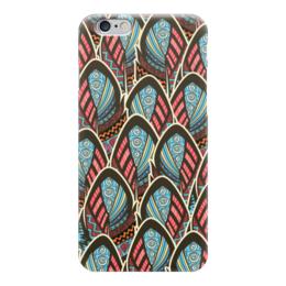 "Чехол для iPhone 6 ""Перья Бохо"" - перо, перья, бохо, майя"