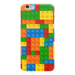 """Чехол для iPhone 6 """"Конструктор Лего"""" - рисунок, игрушка, конструктор, детский рисунок, лего"""