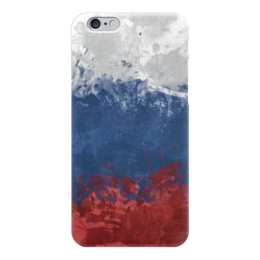 "Чехол для iPhone 6 глянцевый ""Флаг России"" - россия, russia, флаг, родина"
