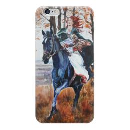 "Чехол для iPhone 6 ""Охота на осень"" - арт, девушка, осень, фолк, охота"