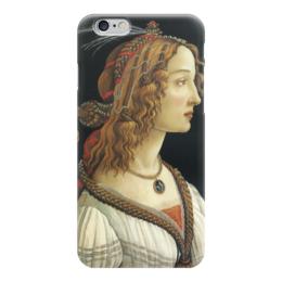 """Чехол для iPhone 6 """"Портрет молодой женщины (Боттичелли)"""" - картина, боттичелли"""
