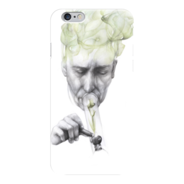 "Чехол для iPhone 6 ""Green smoke "" - курит, smoke, дым"