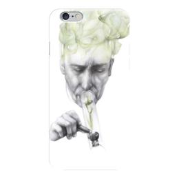 """Чехол для iPhone 6 """"Green smoke """" - курит, smoke, дым"""
