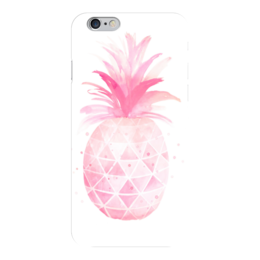 "Чехол для iPhone 6 ""Pink pineapple"" - фрукты, pink, ананас, pineapple"