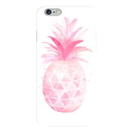 """Чехол для iPhone 6 глянцевый """"Pink pineapple"""" - фрукты, ананас, pineapple, pink"""