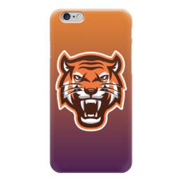 """Чехол для iPhone 6 глянцевый """"Тайгер"""" - кот, животные, природа, тигр"""