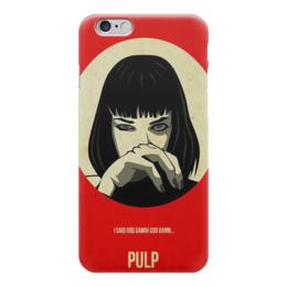 """Чехол для iPhone 6 """"Криминальное Чтиво(Pulp Fiction)"""" - тарантино, криминальное чтиво, pulp fiction, мийя уолес"""